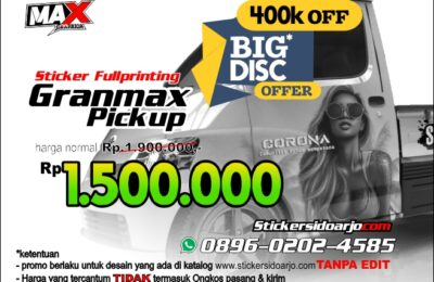 Sticker Grand max Pickup Sidoarjo Fullbody